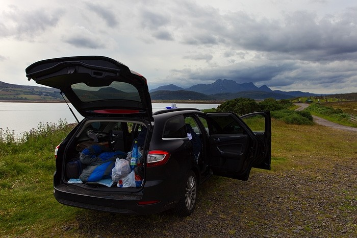 Camping im Auto