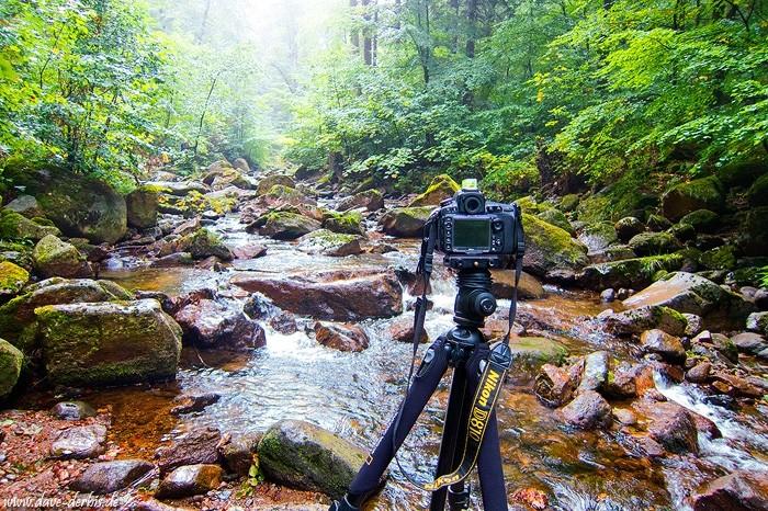 Fotografieren im Harz - Kamera auf Stativ