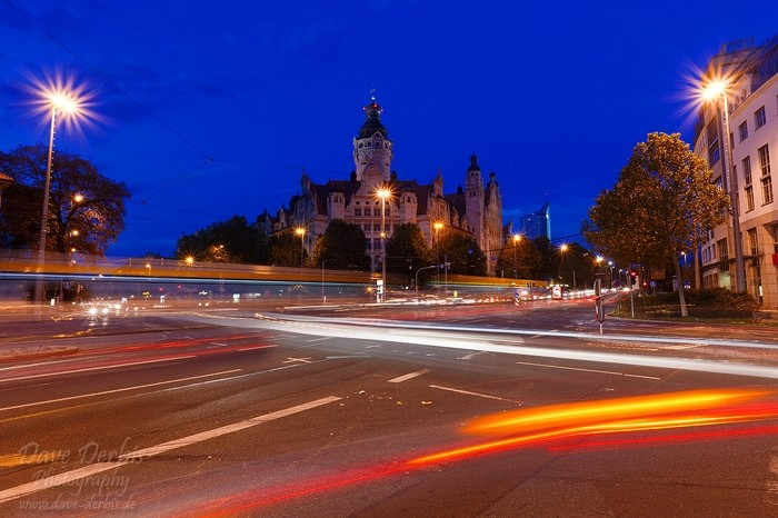 Neues Rathaus Leipzig Blaue Stunde Timelapse Foto