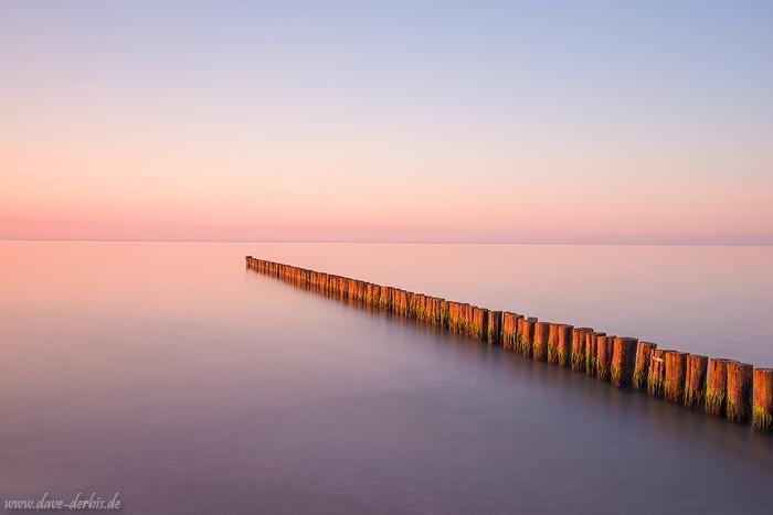 Buhnen Ostsee - Beispiel lange Belichtungszeit