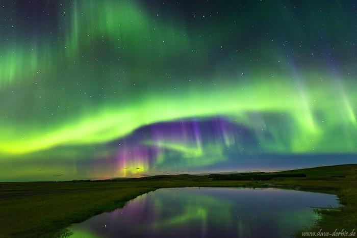 Nordlichter in Island - Beispiel hohe ISO