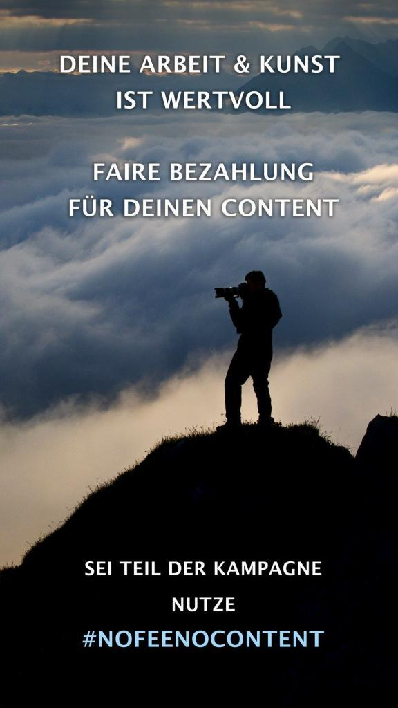 Hashtag #nofeenocontent