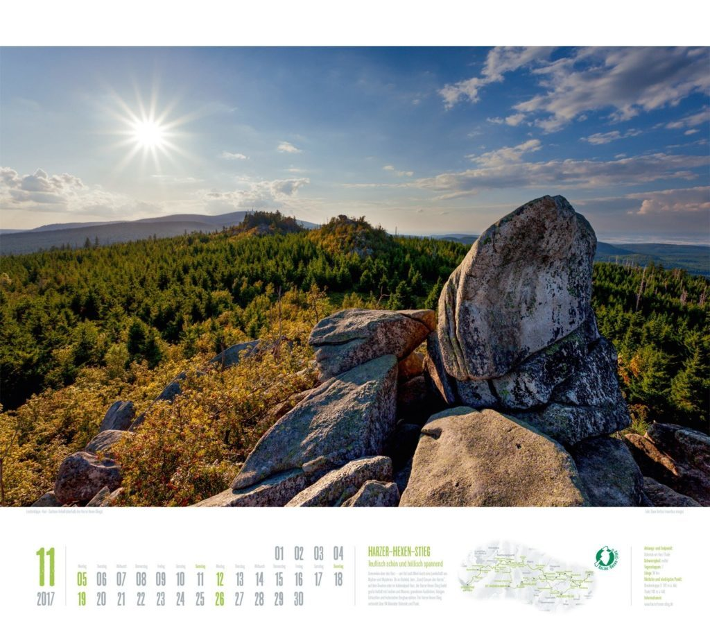 Deutschlands schönste Wanderwege Kalender
