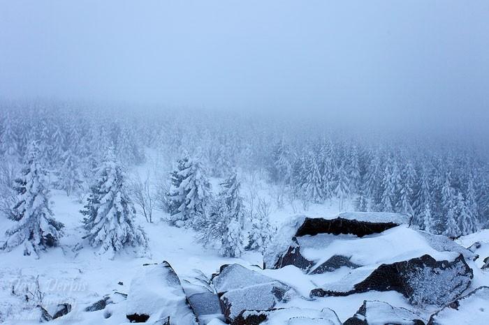 Winterwanderung Wolfswarte - Blick Richtung Südosten