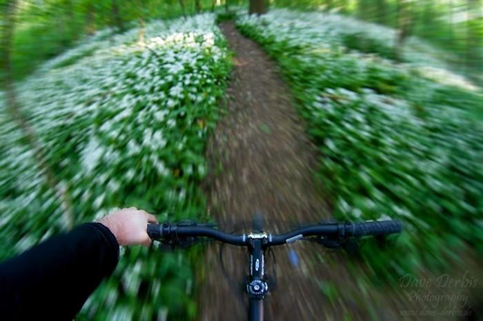 Meine Perspektive beim Radeln und Erkunden.