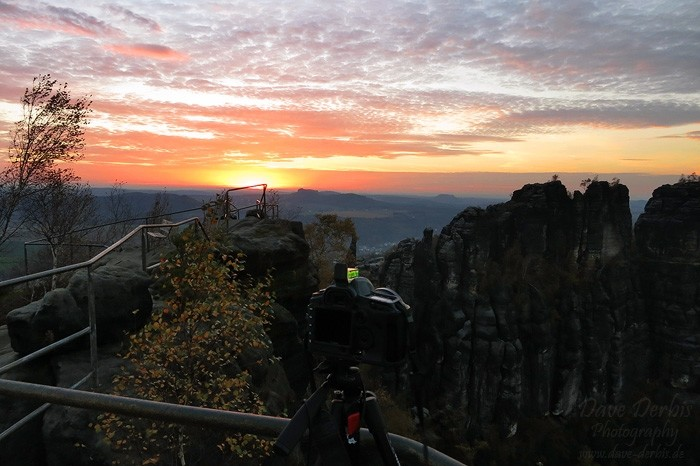 Schrammsteine Wandern - Fotografieren zum Sonnenuntergang