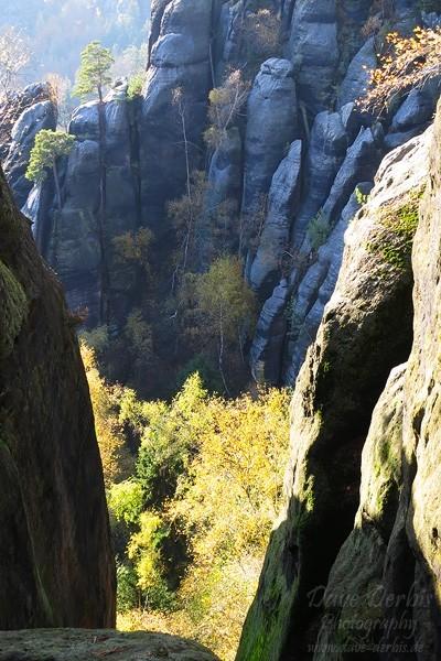 Schrammsteine Wandern - Schlucht