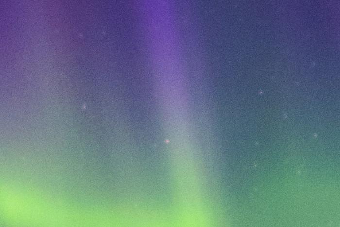 Beispiel Bildrauschen bei ISO800 - Nordlichter in Island