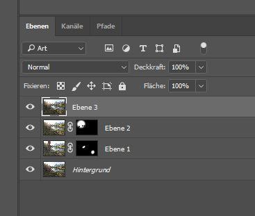 Fotos in Photoshop zusammen blenden über Ebenen