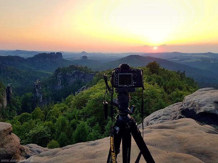Sonnenuntergang Fotografieren ins Gegenlicht