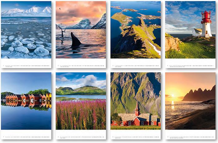 Norwegen 2020 Kalender Übersicht