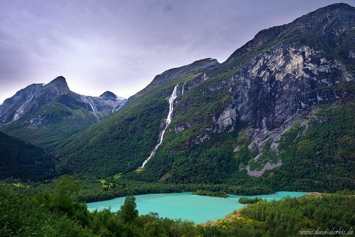 Der 3. höchste Wasserfall der Welt - der Ramnefjellfossen (818m)