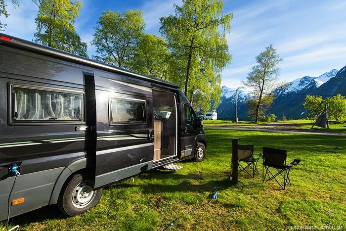 Camping mit dem Wohnmobil in Norwegen