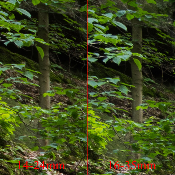 Objektiv Vergleich Motiv 2 - Oben links