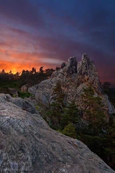 Teufelsmauer Sonnenuntergang