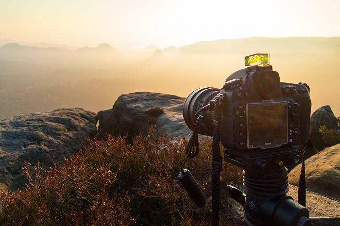 Fotografieren mit Super Weitwinkel Objektiv in der Landschaft der Sächsischen Schweiz