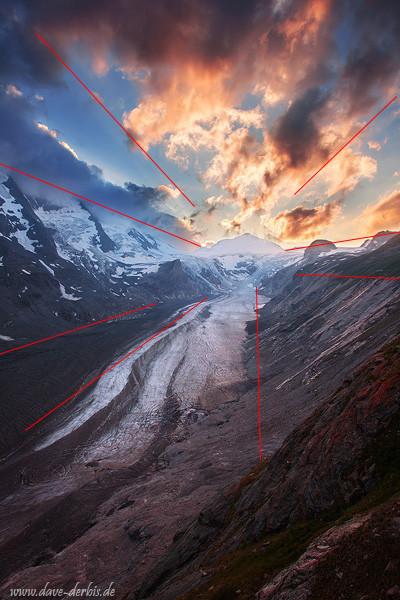 Blickführung durch natürlich vorkommende Linien bei der Bildgestaltung