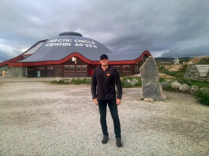 Polarkreis Zentrum in Norwegen