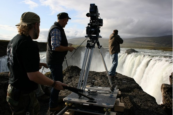 Filmdreh in Island