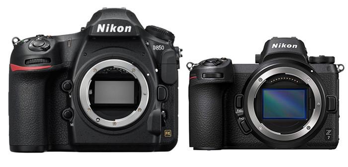 Nikon D850 vs. Nikon Z7
