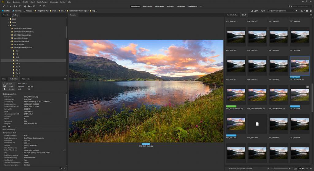 Bildbearbeitung für Landschaftsfotografie: Auswahl der Fotos