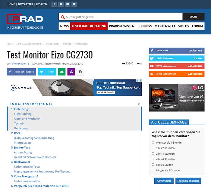 Monitor Test Prad