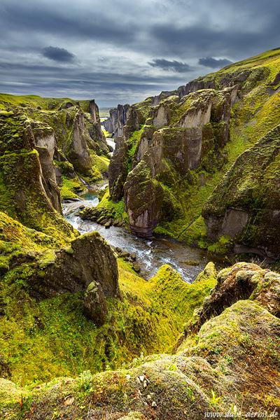 Fjaðrárgljúfur Schlucht in Island