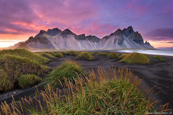 Vestrahorn Sonnenuntergang