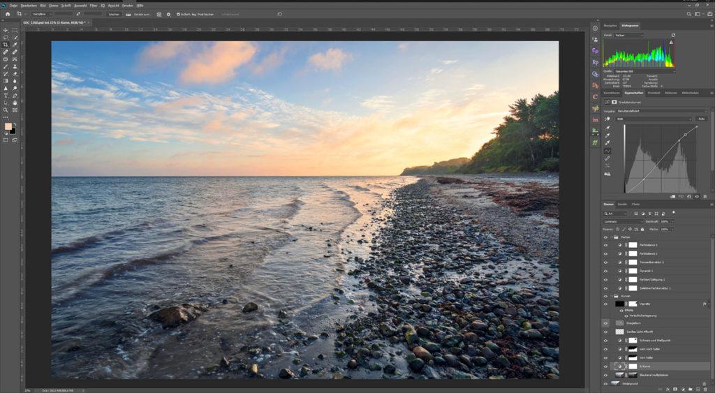 Bildbearbeitung in der Landschaftsfotografie: Einstellungsebenen
