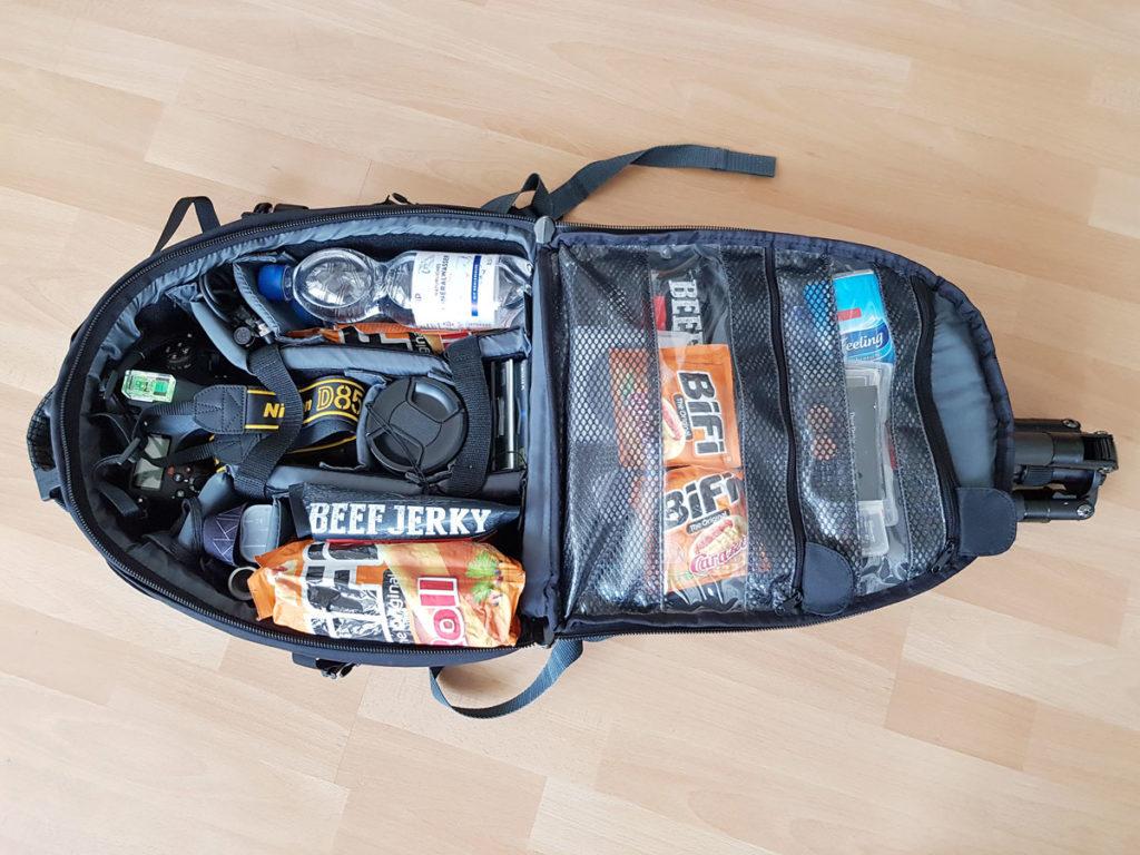 Fotorucksack Packliste