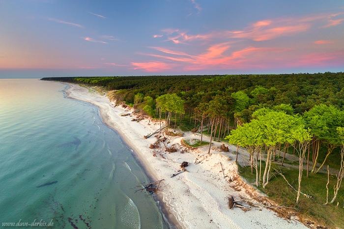 Ostsee Strand von oben fotografiert