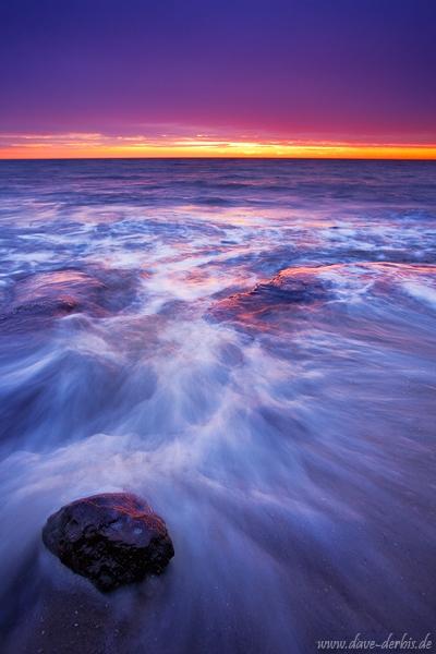 Bewegung der Wellen an der Ostsee  fotografieren