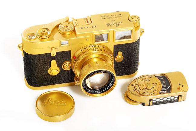 Teuerste Kameras - Leica M3 von Leitz vergoldet