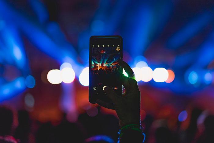 Konzert fotografieren Handy